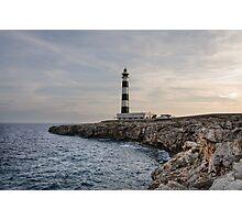 Cap d'Artrux lighthouse, Island of Menorca, Spain Photographic Print