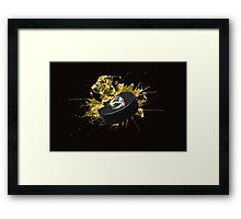 Nashville Predators Puck Framed Print