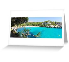 Cala Macarella bay, Island of Menorca, Balearic Islands, Spain Greeting Card