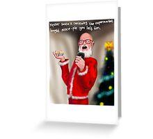 Hipster Santa Greeting Card