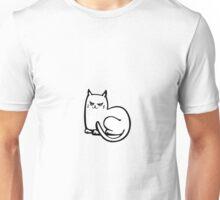 Cat on yellow Unisex T-Shirt