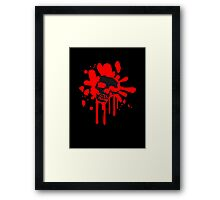 Skull skull blood drops Horror Framed Print