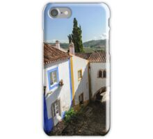 Traditional architecture in Medieval Portuguese Town of Obidos iPhone Case/Skin