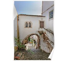 Traditional architecture in Medieval Portuguese Town of Obidos Poster