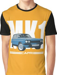 Blue Ford Capri MK1 Classic Car Graphic T-Shirt