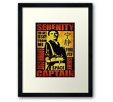 Serenity (coloured version) Framed Print