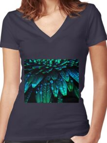 Midnight Blue Women's Fitted V-Neck T-Shirt