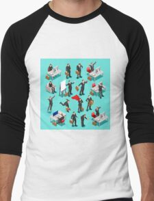 Businessman Leader Isometric Men's Baseball ¾ T-Shirt