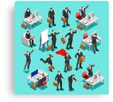 Businessman Leader Isometric Canvas Print