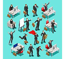 Businessman Leader Isometric Photographic Print