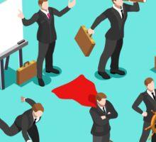 Businessman Leader Isometric Sticker