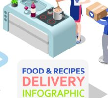 Food Recipes Delivery Concept Sticker