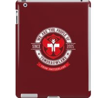 People of Tomorrowland Flags logo Badge -  Switzerland - Suisse - Schweiz - svizzera iPad Case/Skin