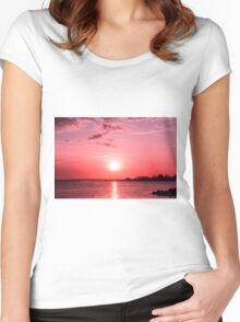 6 April Sunset Women's Fitted Scoop T-Shirt