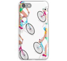 Teen Girl Cycling iPhone Case/Skin