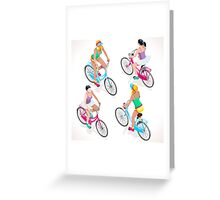 Teen Girl Cycling Greeting Card