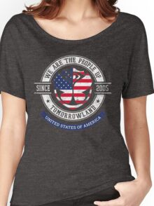 People of Tomorrowland Flags logo Badge - usa - american - united states Women's Relaxed Fit T-Shirt
