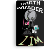 Darth InVader ZIM! Metal Print
