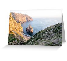 Seacoast at Cabo da Roca, Portugal Greeting Card