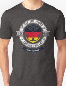 People of Tomorrowland Flags logo Badge - Germany - Deutschland - German - deutsch Unisex T-Shirt