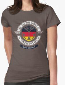 People of Tomorrowland Flags logo Badge - Germany - Deutschland - German - deutsch Womens Fitted T-Shirt