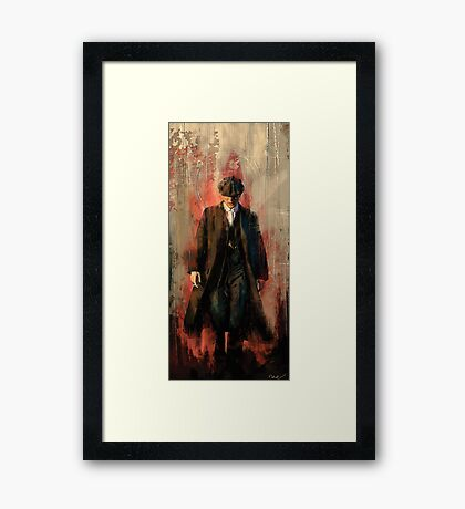 Red right hand Framed Print