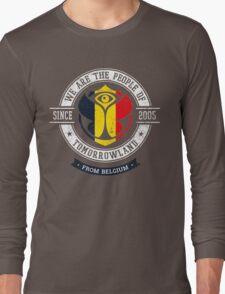 People of Tomorrowland Flags logo Badge - belgium - belgique - belgië - belgien Long Sleeve T-Shirt