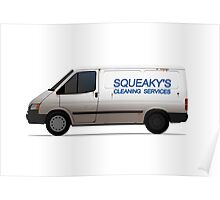 White van - Cleaning services livery Poster