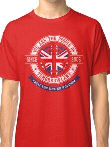 People of Tomorrowland Flags logo Badge - UK - Union Jack  - great britain - royaume uni Classic T-Shirt