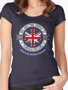 People of Tomorrowland Flags logo Badge - UK - Union Jack  - great britain - royaume uni Women's Fitted Scoop T-Shirt