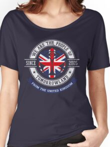 People of Tomorrowland Flags logo Badge - UK - Union Jack  - great britain - royaume uni Women's Relaxed Fit T-Shirt