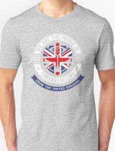 People of Tomorrowland Flags logo Badge - UK - Union Jack  - great britain - royaume uni Unisex T-Shirt