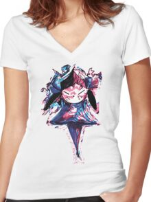 Vector Gremlin Women's Fitted V-Neck T-Shirt