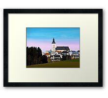 Village skyline with vivid sky | landscape photography Framed Print