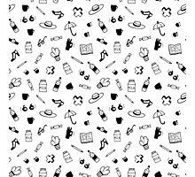 Little doodles graphic pattern Photographic Print