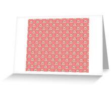 Pink Piggy Pattern Greeting Card