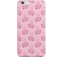 Pink Love Octopus Pattern iPhone Case/Skin