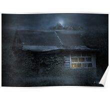 Old house in the night Poster
