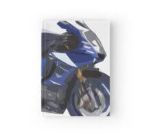 Blue Yamaha 2015, new motorcycle Hardcover Journal