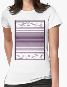 Pattern 009 Broad Square Purple Pattern Womens Fitted T-Shirt