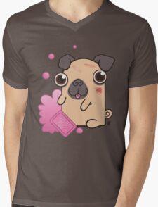 Pug Soap Mens V-Neck T-Shirt