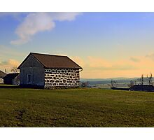 Traditional storage in autumn scenery | architectural photography Photographic Print