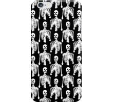 Spooky Skeleton Black Pattern iPhone Case/Skin