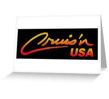 CRUIS´N USA RACING ARCADE  Greeting Card