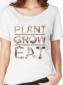PLANT GROW EAT Women's Relaxed Fit T-Shirt