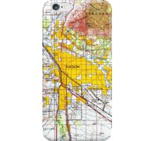 Tucson old map year 1956, original yellow city map iPhone Case/Skin