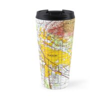 Tucson old map year 1956, original yellow city map Travel Mug