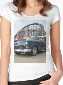 A Cool Classic Car And A Coaster Women's Fitted Scoop T-Shirt