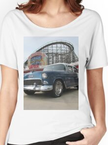 A Cool Classic Car And A Coaster Women's Relaxed Fit T-Shirt