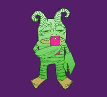 Degrader monster with cell phone (digital art) Women's Fitted Scoop T-Shirt